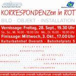 Korrespondenzen in Rot - Eine Kunstausstellung @ Kulturbahnhof Overath | Overath | Nordrhein-Westfalen | Deutschland
